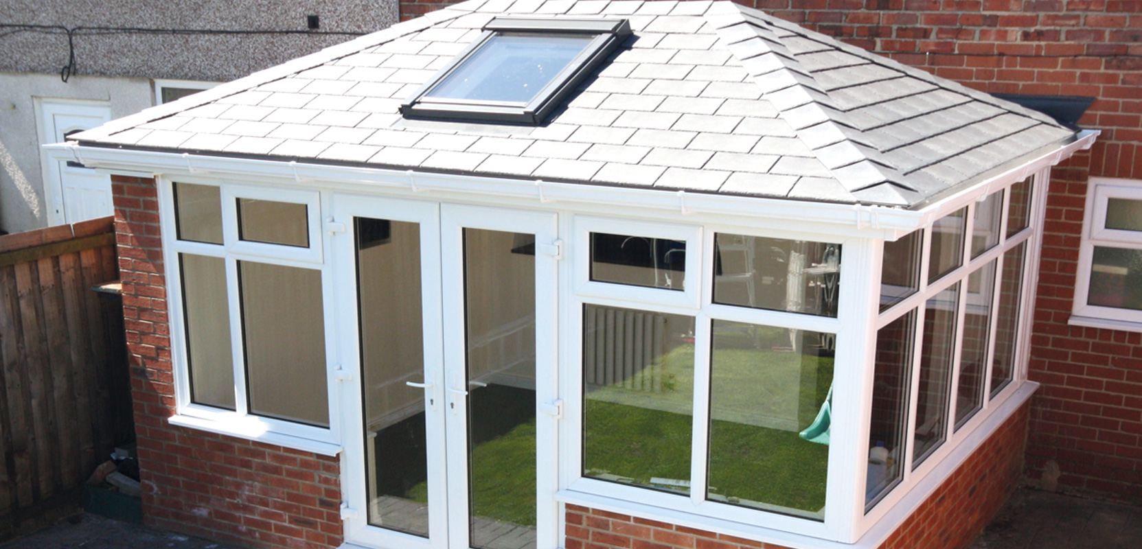 Photo of a conservatory roof