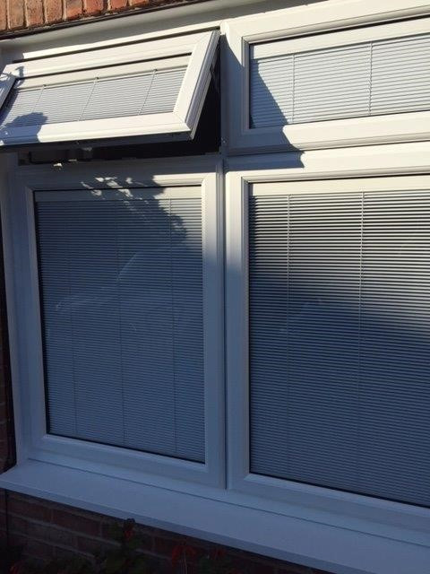 Photo of integral blinds