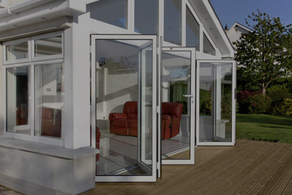 Photo of sliding folding doors